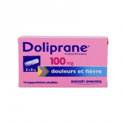 DOLIPRANE 100 mg suppos sécable