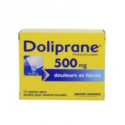 Doliprane 500 Mg Poudre Pour Solution Buvable 12 Sachets