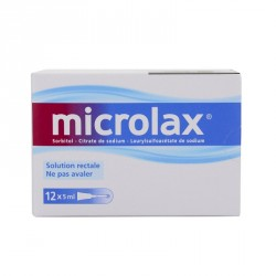 Microlax Sorbitol Citrate Et Laurilsulfoacetate De Sodium 12 Récipients Unidoses