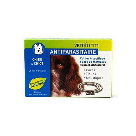 Vetoform Antiparasitaire Collier Insectifuge Chien et Chiot