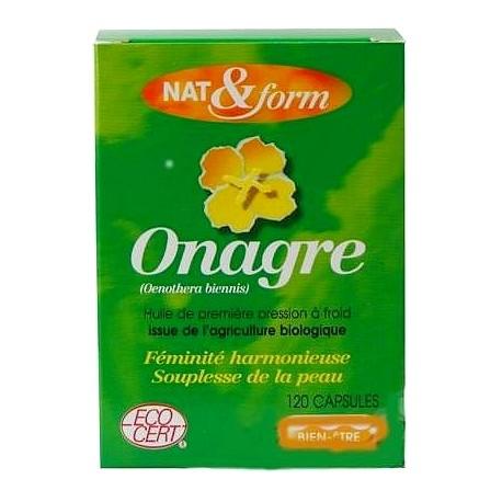 Nat & Form Huile d'onagre 120 capsules Eco Responsable