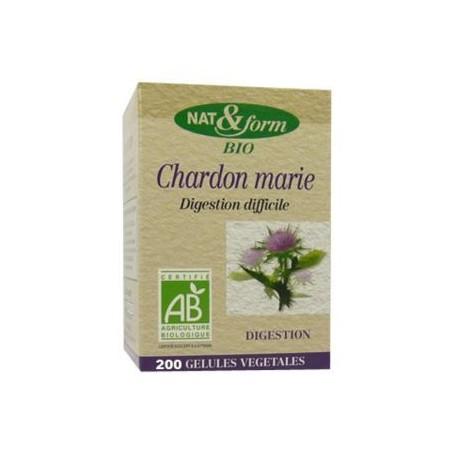 Nat & Form Chardon marie BIO 200 gélules Eco Responsable
