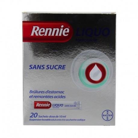 Rennieliquo sans sucre suspension buvable 20 sachets 10ml
