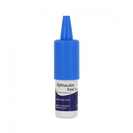 Ophtacalmfree 2% collyre en solution flacon pompe de 10ml
