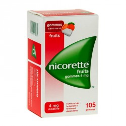 Nicorette Fruits 4Mg Sans Sucre 105 Gommes à Mâcher