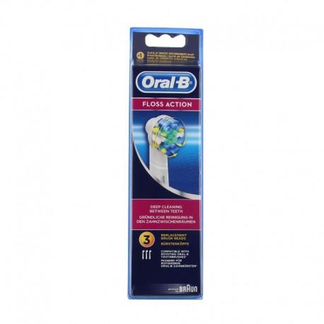 Oral b brossettes floss action lot de 3