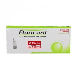 FLUOCARIL BIFLUORE 250mg MENTHE pâte dentifrice lot de 2