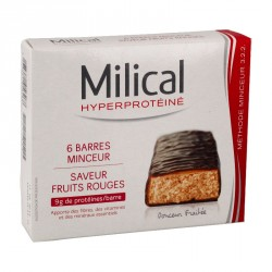 Milical hyperprotéiné fruits rouges 6 barres