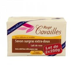Rogé Cavailles Savon surgras Extra doux Lait de Rose 2 x 250g