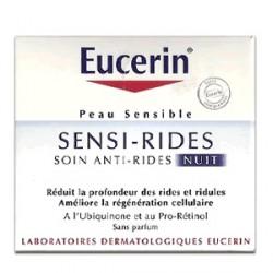 Eucerin sensi-rides soin anti-rides nuit peaux sensibles 50ml