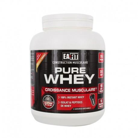 Eafit pure whey croissance musculaire vanille 750g