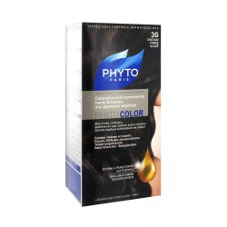 Phyto Color Coloration Soin Permanente Haute Brillance aux Pigments Végétaux marron chocolat