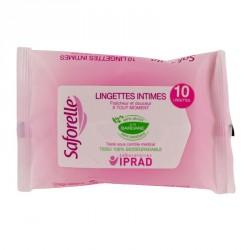 Saforelle muqueuses et peaux sensibles 10 lingettes x2