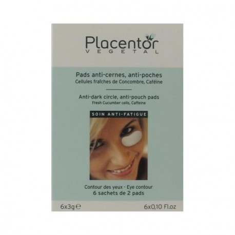 Placentor végétal pads anti cernes et anti poches 6 sachets