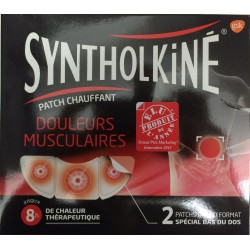 Syntholkiné douleurs musculaires 2 patch chauffant grand format