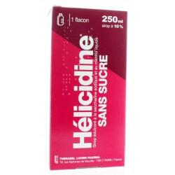 Helicidine 10 pour cent sans sucre sirop édulcoré à la saccharine 250ml