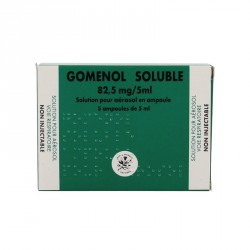 GOMENOL SOLUBLE S AÉROS B/5AMP/5ML