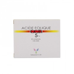 ACIDE FOLIQUE CCD 5MG CPR B/20 DIRECT