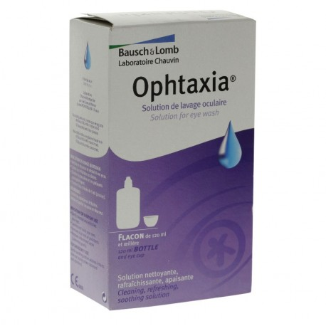 Chauvin Bausch & Lomb Ophtaxia Solution de Lavage Oculaire et Oeillère 120ml
