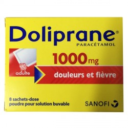 Doliprane 1000mg douleurs et fièvre 8 sachets-dose poudre pour solution buvable