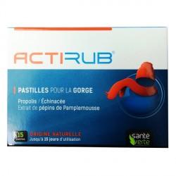 Actirub 15 pastilles pour la Gorge