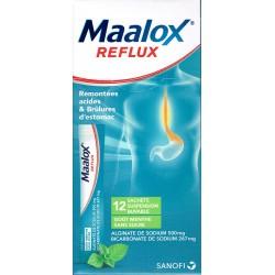 MAALOX REFLUX menthe sans sucre 12 sticks