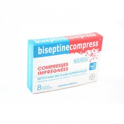 Biseptine 8 compresses imprégnées