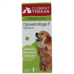 Clément Thékan Opovermifuge P Sirop Chaton et Chiot 200ml