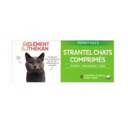 Clément thékan Strantel chat vermifuge 4 comprimés