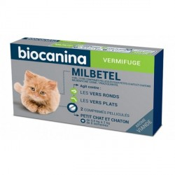 Biocanina Milbetel Vermifuges pour Chats 2 comprimés