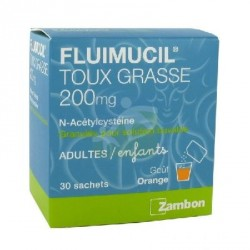 FLUIMUCIL 200mg granulé pour solution buvable x30 sachets