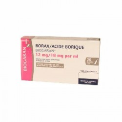 Borax/Acide borique Biogaran 12mg/18mg/ml 20 unidoses