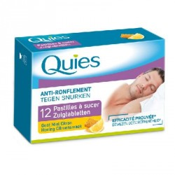 Quies anti ronflement 12 pastilles à sucer gout miel citron