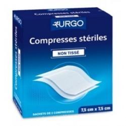 URGO Compresses non tissées stériles 7,5 cm x 7,5 cm 1 Boîte de 50x2 compresses