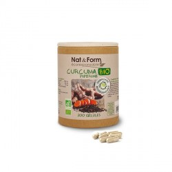 Nat&Form Curcuma piperine eco Bio 200gélules