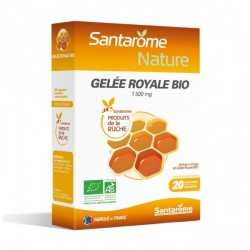 SANTAROME gelée royale fraîche bio solution buvable 20 ampoules/10ml