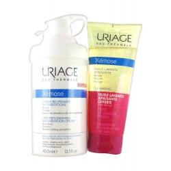 Uriage Xémose Crème Relipidante Anti-Irritations 400 ml + Huile Lavante Apaisante 200 ml Offerte