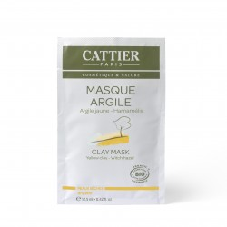 Cattier Masque Argile Jaune Peaux Sèches Unidose 12,5ml