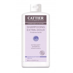 Cattier Shampooing Extra Doux Usage Quotidien 1L