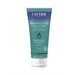 Cattier Shampooing Douche Argile Blanche Extrait De Menthe 200 ml