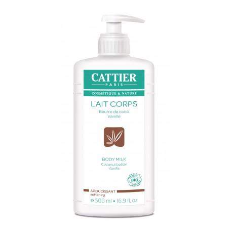 Cattier Lait Corps Adoucissant Beurre de Coco Vanille 500 ml