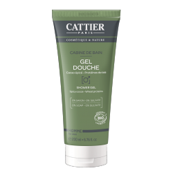 Cattier Gel Douche Homme Cabine de Bain 200ml