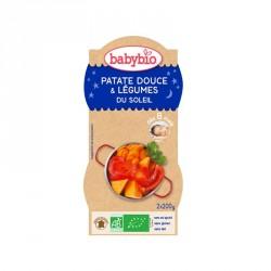Babybio Bols Patate douce & Légumes du soleil 200g x2