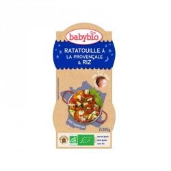 Babybio Bols Ratatouille Provençale & Riz 200g x2