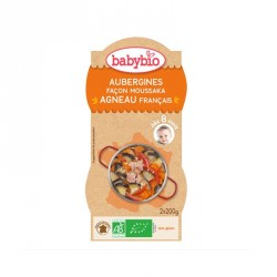 Babybio Bols Aubergines Moussaka & Agneau français 200g x2