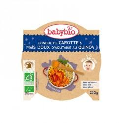 Babybio Assiette Fondue de Carotte & Maïs doux d'Aquitaine au Quinoa 230g