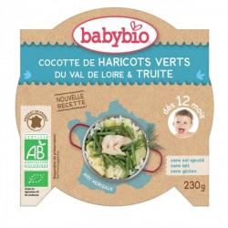 Babybio Cocotte de haricots verts du Val de Loire & truite 230g