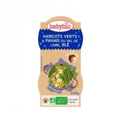 Babybio Bols Haricots verts & Panais Val de Loire, Blé 200g x2