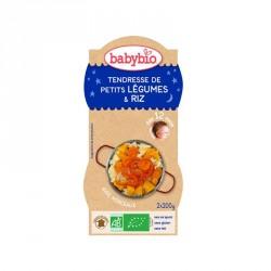 Babybio Bols Tendresse de Petits légumes et Riz 200g x2