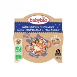 Babybio Assiette Aubergines de Provence façon Parmigiana & Macaroni 260g